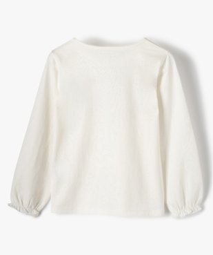 Tee-shirt fille avec motif et sequins brodés – Lulu Castagnette vue3 - LULUCASTAGNETTE - Nikesneakers