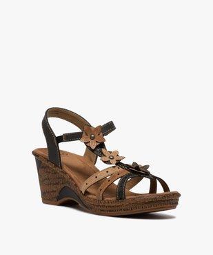 Sandales femme à talon compensé extra légères vue2 - GEMO(URBAIN) - GEMO