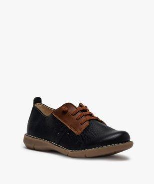 Derbies femme confort bicolores à lacets élastiques vue2 - Nikesneakers (CASUAL) - Nikesneakers