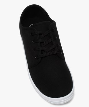 Chaussures basses homme style tennis en toile unies à lacets  vue5 - Nikesneakers (SPORTSWR) - Nikesneakers