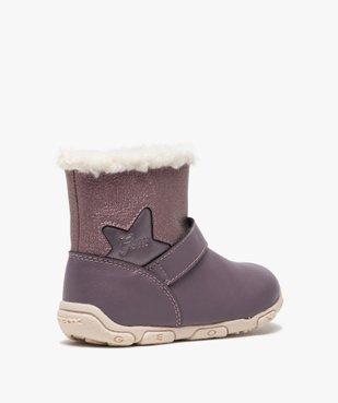 Boots bébé fille zippées fourrées sherpa – Geox vue4 - GEOX - GEMO