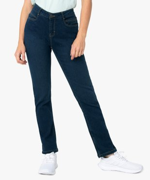 Jean femme coupe Regular 4 poches vue1 - GEMO (JEAN) - GEMO