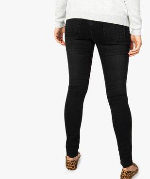 Jean femme skinny à taille normale en stretch délavé vue3 - GEMO (JEAN) - GEMO