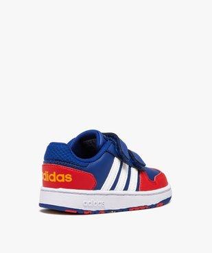 Baskets garçon multicolores à scratch – Adidas Hoops 2.0 vue4 - ADIDAS - Nikesneakers