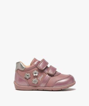 Chaussures bébé fille à scratch décor fleurs - Geox vue1 - GEOX - GEMO