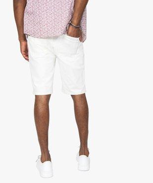 Bermuda homme en toile de coton épaisse coupe jean vue3 - GEMO (HOMME) - GEMO