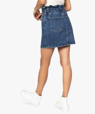 Jupe femme en jean avec taille froncée vue3 - GEMO(FEMME PAP) - GEMO