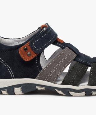 Sandales garçon en cuir bout fermé et fermeture scratch vue6 - Nikesneakers (ENFANT) - Nikesneakers