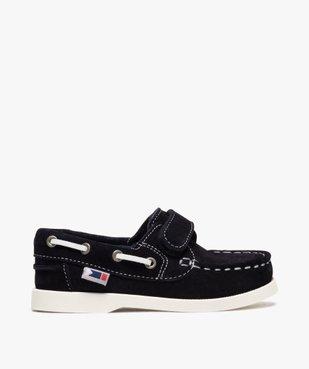 Chaussures bateau garçon dessus cuir à fermeture scratch Dessus cuir retourné uni vue1 - Nikesneakers (ENFANT) - Nikesneakers