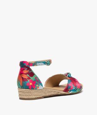 Sandales femme à petit talon compensé et dessus drapé vue4 - Nikesneakers (CASUAL) - Nikesneakers