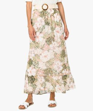 Jupe femme longue à motif tropical vue1 - Nikesneakers(FEMME PAP) - Nikesneakers