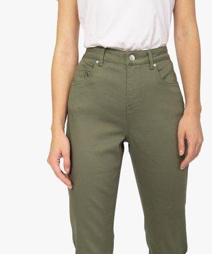 Pantalon femme coupe Regular en stretch vue2 - GEMO(FEMME PAP) - GEMO