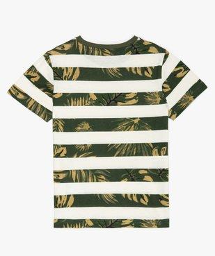 Tee-shirt garçon à rayures et motifs exotiques vue4 - GEMO (ENFANT) - GEMO