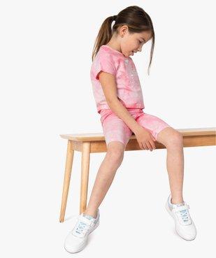 Tee-shirt court fille avec motif scintillant sur l'avant vue5 - GEMO (ENFANT) - GEMO