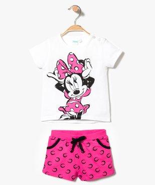 Ensemble 2 pièces : short + tee-shirt coordonnés - Disney Minnie Mouse vue1 - MINNIE - GEMO