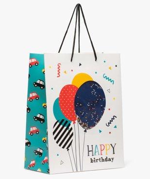 Sac cadeau garçon pour anniversaire avec confettis pailletés vue1 - GEMO (ACCESS) - GEMO