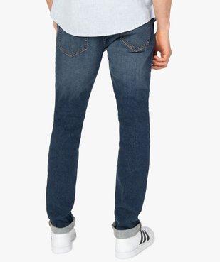 Jean homme coupe Slim délavé plissé sur les cuisses vue3 - Nikesneakers C4G HOMME - Nikesneakers