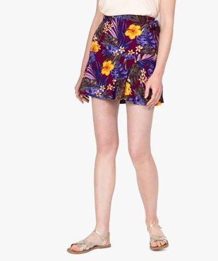 Jupe-short femme fluide motif fleuri vue1 - GEMO(FEMME PAP) - GEMO