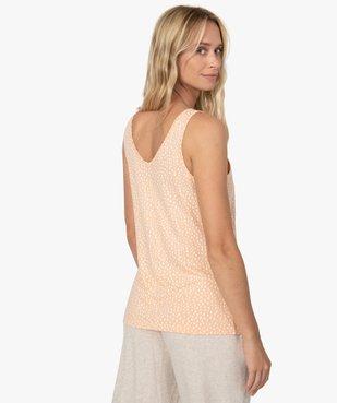 Haut de pyjama femme à col dentelle avec coton bio vue2 - GEMO C4G FEMME - GEMO