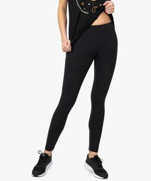 Legging femme uni en coton extensible vue1 - GEMO(FEMME PAP) - GEMO