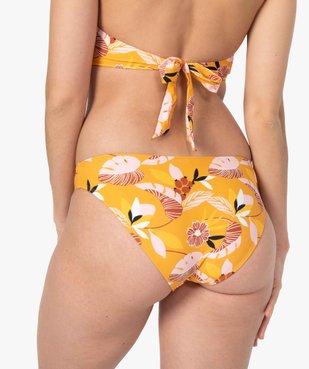 Bas de maillot de bain femme fleuri forme slip vue2 - GEMO (PLAGE) - GEMO