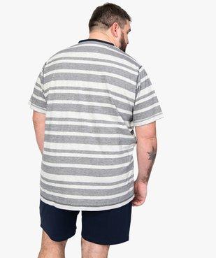 Pyjashort homme avec haut rayé vue3 - Nikesneakers(HOMWR HOM) - Nikesneakers