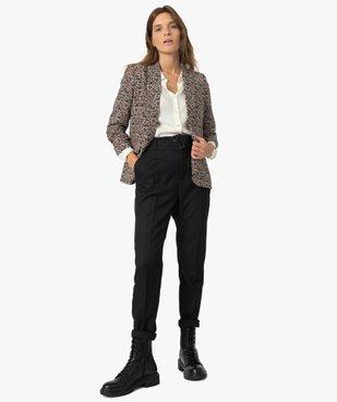 Veste femme à manches ¾ froncées vue5 - GEMO(FEMME PAP) - GEMO