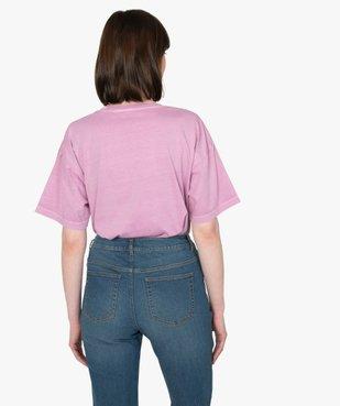 Tee-shirt femme à manches courtes coupe ample vue3 - GEMO(FEMME PAP) - GEMO