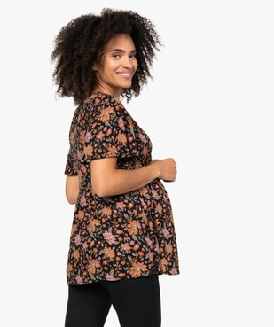 Blouse de grossesse à smocks et fleurs vue3 - GEMO (MATER) - GEMO