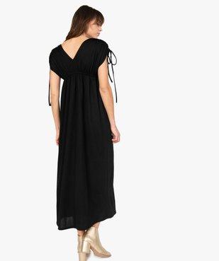 Robe de soirée femme avec manches froncées vue3 - GEMO(FEMME PAP) - GEMO