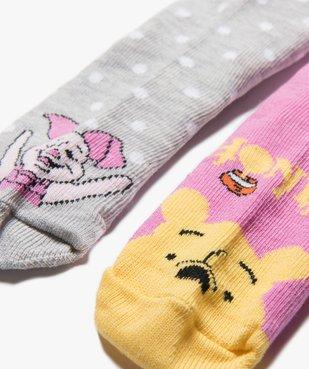 Chaussettes bébé fille avec motifs Winnie l'ourson (lot de 2)- Disney vue2 - DISNEY DTR - Nikesneakers
