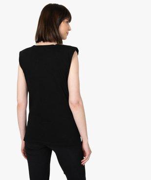 Tee-shirt de grossesse avec col rond et épaulettes vue3 - GEMO (MATER) - GEMO