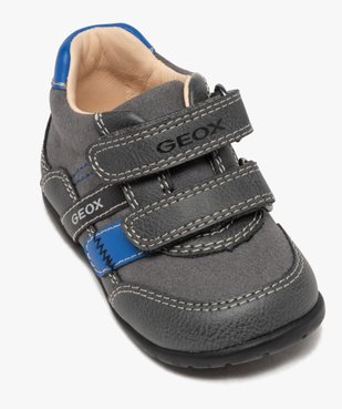Baskets bébé garçon multimatières à scratch - Geox vue5 - GEOX - GEMO