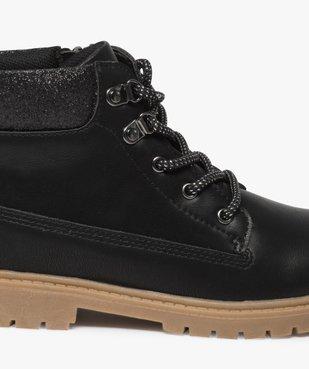Boots fille avec col fantaisie et semelle crantée vue6 - Nikesneakers (ENFANT) - Nikesneakers