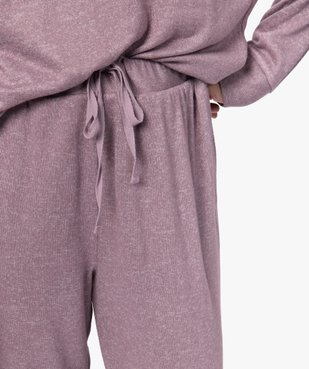 Pantalon de pyjama femme en maille fine vue2 - GEMO(HOMWR FEM) - GEMO