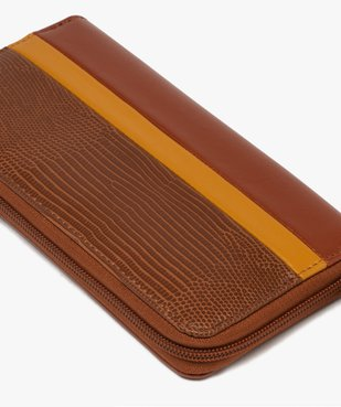 Portefeuille femme zippé multicolore vue2 - GEMO (ACCESS) - GEMO