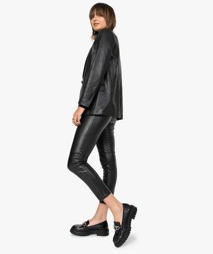 Pantalon femme en matière synthétique coupe slim vue6 - GEMO(FEMME PAP) - GEMO