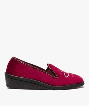 Pantoufles femme à talon dessus en velours brodé vue1 - Nikesneakers(HOMWR FEM) - Nikesneakers