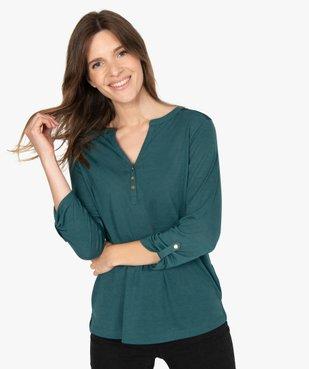 Tee-shirt femme à manches longues et dos dentelle vue1 - GEMO C4G FEMME - GEMO
