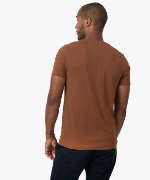 Tee-shirt homme avec motif montagne vue3 - GEMO (HOMME) - GEMO