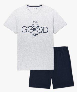 Pyjashort homme bicolore vue4 - GEMO(HOMWR HOM) - GEMO