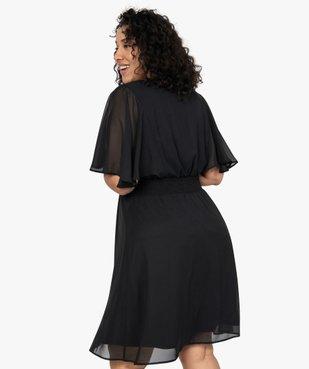 Robe femme en voile à taille smockée  vue3 - GEMO (G TAILLE) - GEMO