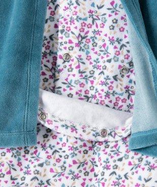Pyjama bébé fille en velours effet 2 en 1 vue4 - GEMO(BB COUCHE) - GEMO