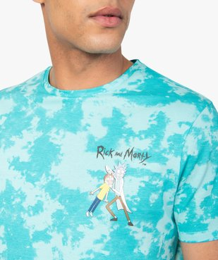 Tee-shirt homme tie-and-dye à manches courtes - Rick and Morty vue2 - RICK ET MORTY - GEMO