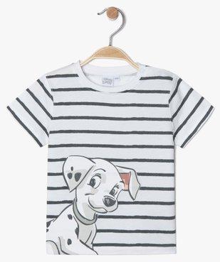 Tee-shirt bébé garçon à rayures et motif - Disney vue1 - DISNEY DTR - GEMO