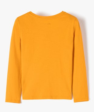 Tee-shirt fille avec motifs fleuris et sequins vue3 - GEMO (ENFANT) - GEMO