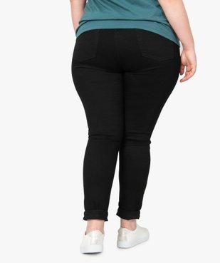 Jegging femme taille normale en coton stretch vue3 - GEMO (G TAILLE) - GEMO