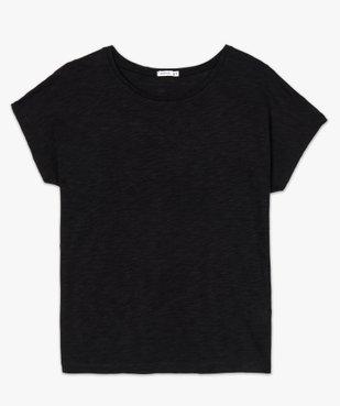 Tee-shirt femme large à manches ultra courtes  vue4 - GEMO(FEMME PAP) - GEMO