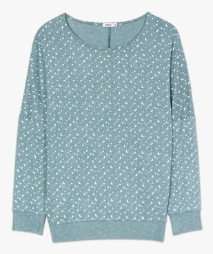 Haut de pyjama femme à manches chauve-souris vue4 - GEMO(HOMWR FEM) - GEMO