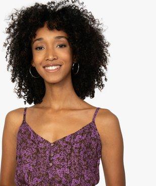 Blouse femme à fines bretelles et motif floral vue2 - GEMO(FEMME PAP) - GEMO